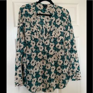 Who What Wear Floral Green blouse size 2x